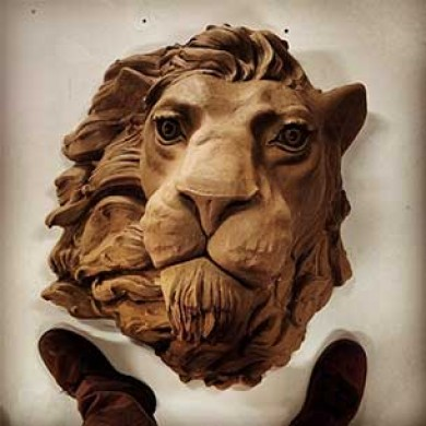Bronze Lion Sculpture Commission