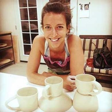 Beginning Pottery Class Student